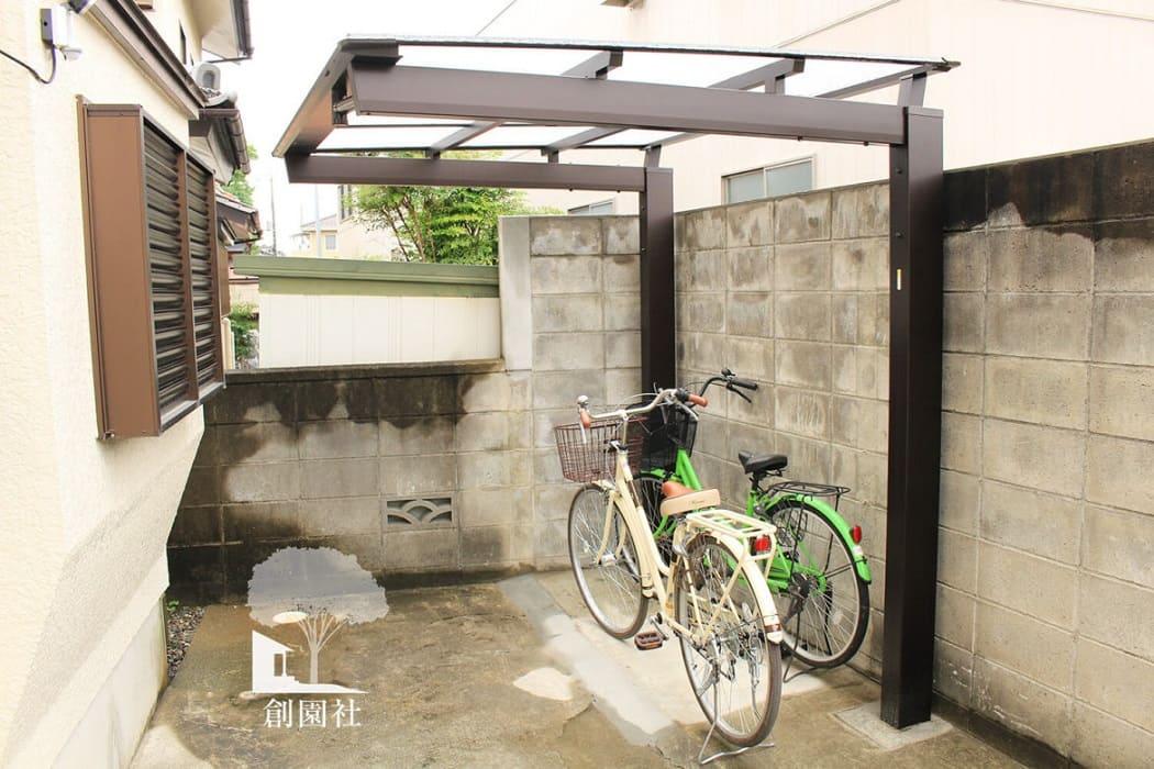 藤岡市 サイクルポート 自転車用屋根