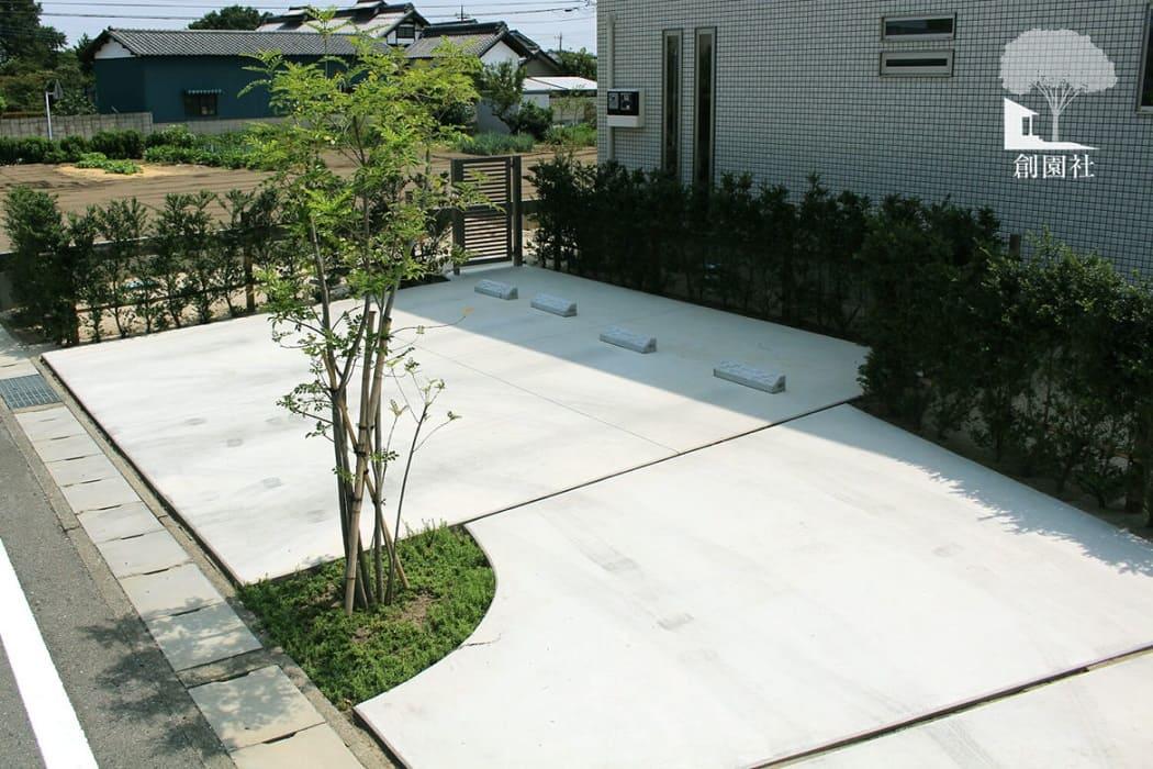 高崎市 駐車場 シンボルツリー