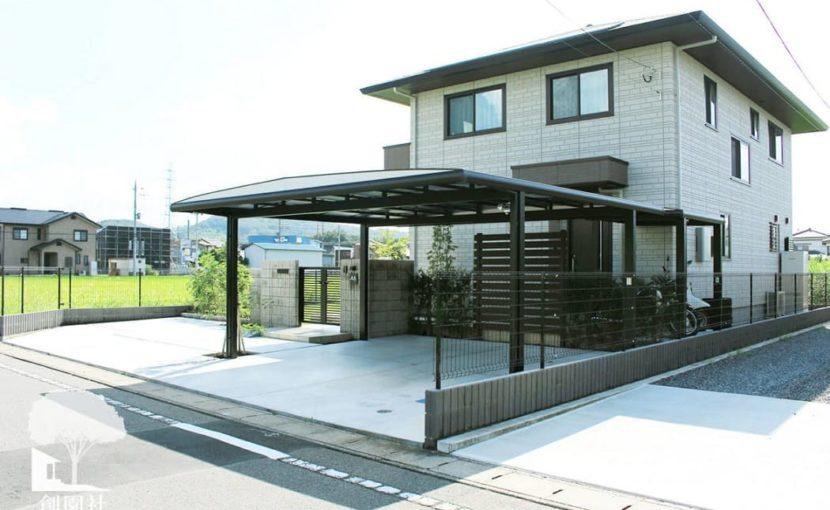 高崎市 新築外構 カーポート