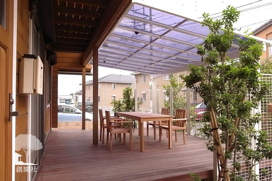 高崎市 ウッドデッキ テラス屋根