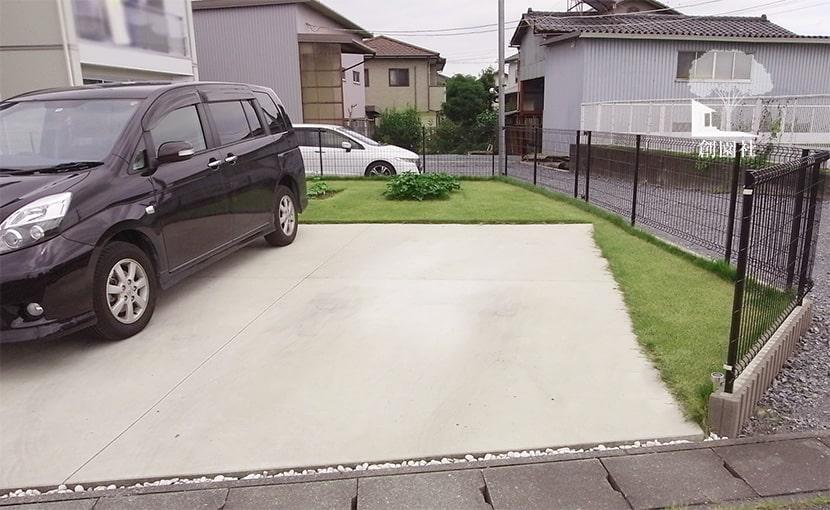 高崎市 新築外構 駐車場デザイン