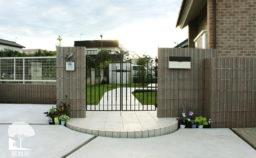 富岡市 シンプル外構 門まわり
