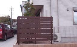 高崎市 外構リフォーム 目隠しフェンス