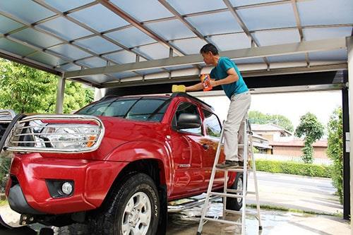 洗車 カーポート