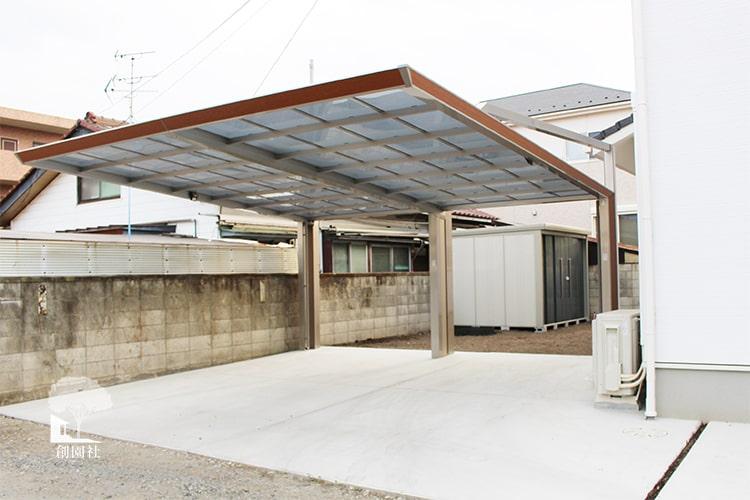 群馬県 前橋市 新築外構 カーポート