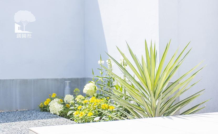群馬県高崎市 新築外構 門まわり植栽