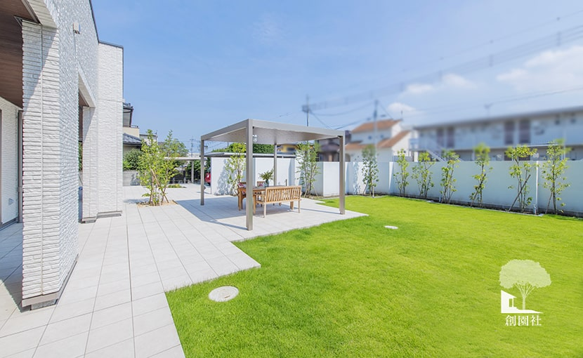 群馬県高崎市 新築外構 庭デザイン