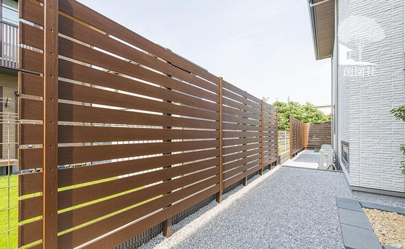 群馬県高崎市 新築外構 目隠しフェンス