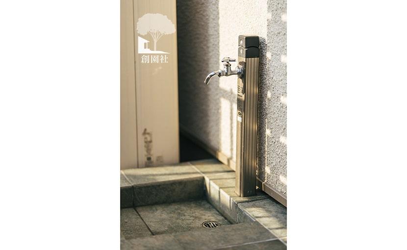 群馬県 高崎市 新築外構 立水栓